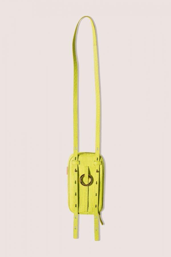 TUBICI® | Matt Fluo Yellow Crocodile | SS20 LOS ANGELES | www.tubicistore.com