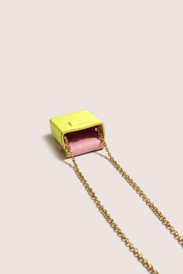 TUBICI® | Matt Fluo Yellow Crocodile | SS20 PARIGI | www.tubicistore.com