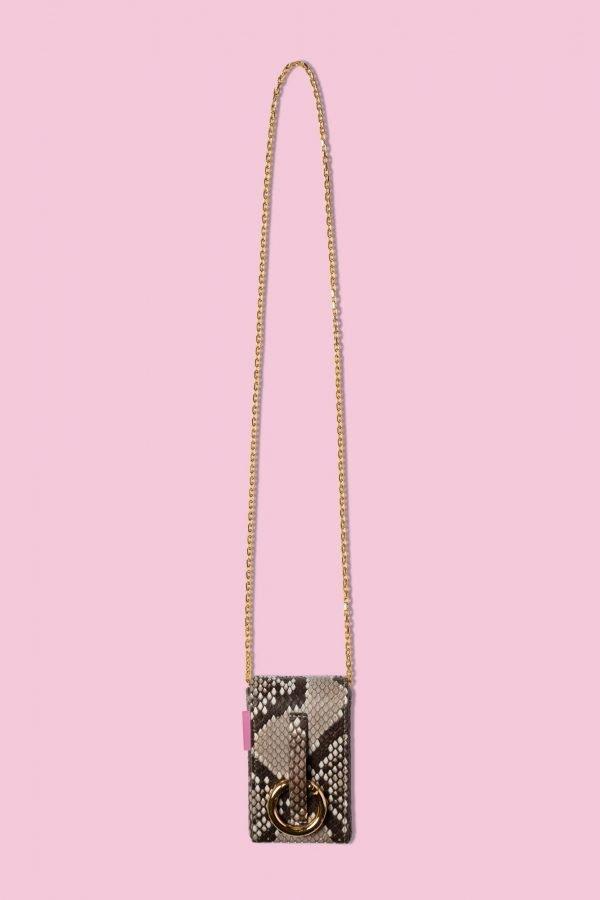 TUBICI® | Pink Shiny Python Lizard XL | SS20 PARIGI | www.tubicistore.com