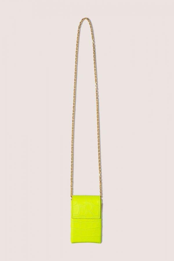 TUBICI® | Matt Fluo Yellow Crocodile XL | SS20 PARIGI | www.tubicistore.com