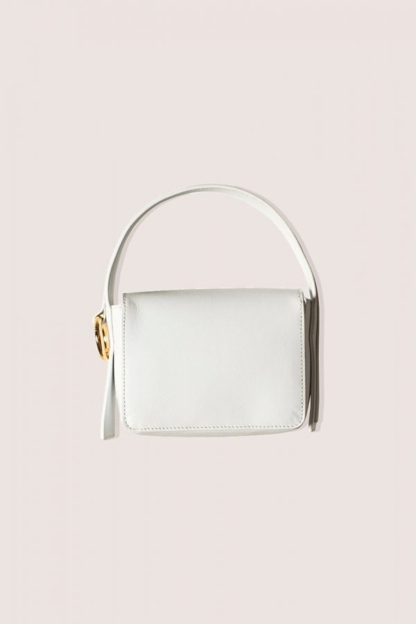 TUBICI® | White Leather Hand Bag | SS21 HOLLYWOOD | www.tubicistore.com