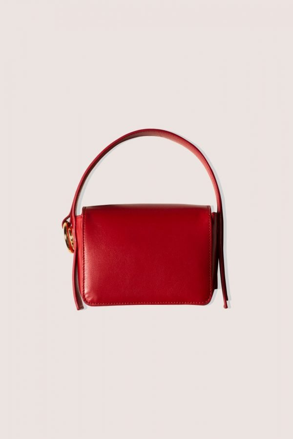 TUBICI® | Red Leather Hand Bag | SS21 HOLLYWOOD | www.tubicistore.com
