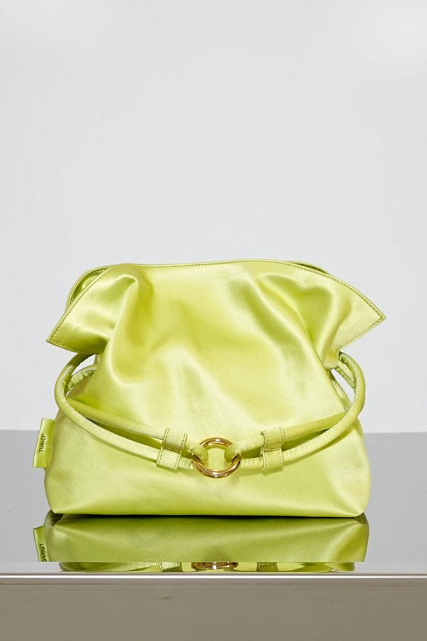 TUBICI® | Satin Lime Pouch | SS21 ROMA XL | www.tubicistore.com