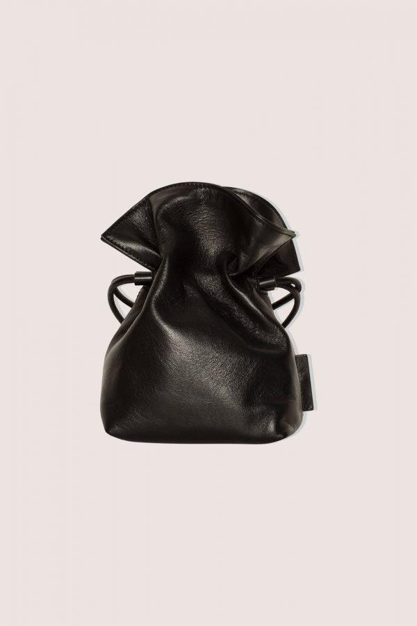 TUBICI® | Black Leather Pouch | SS21 ROMA S | www.tubicistore.com