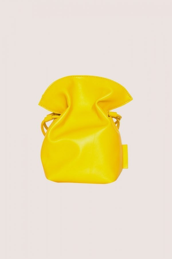 TUBICI® | Yellow Leather Pouch | SS21 ROMA S | www.tubicistore.com