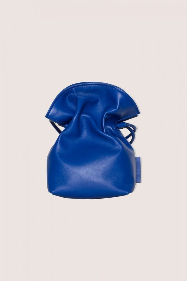 TUBICI® | Blue Leather Pouch | SS21 ROMA S | www.tubicistore.com