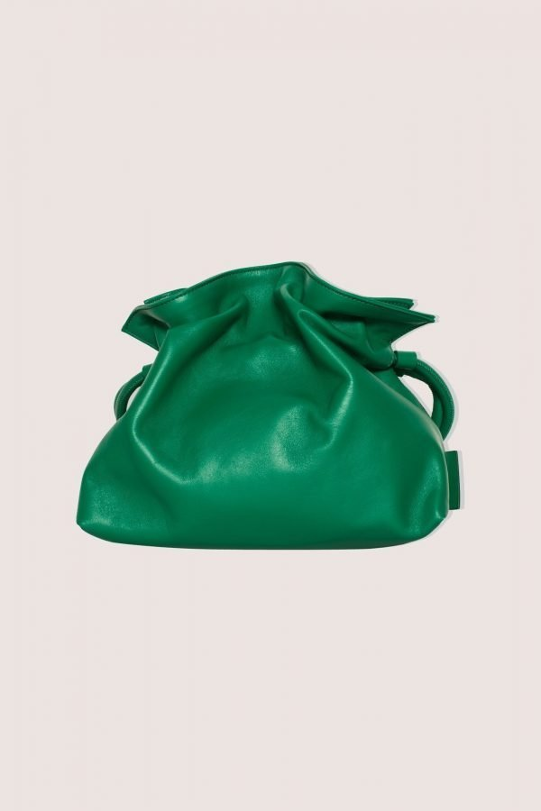 TUBICI® | Green Leather Pouch | SS21 ROMA XL | www.tubicistore.com
