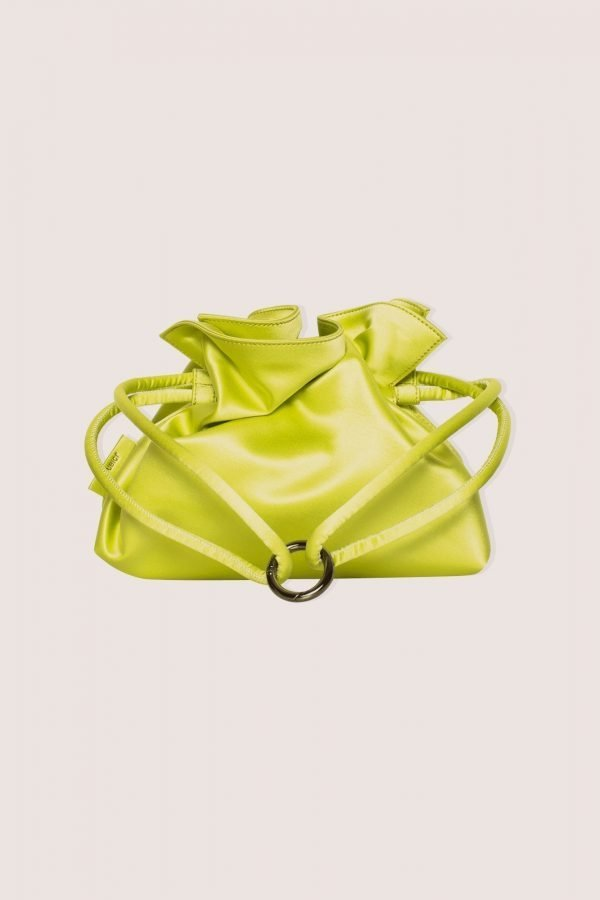 TUBICI® | Lime Leather Pouch | SS21 ROMA XL | www.tubicistore.com
