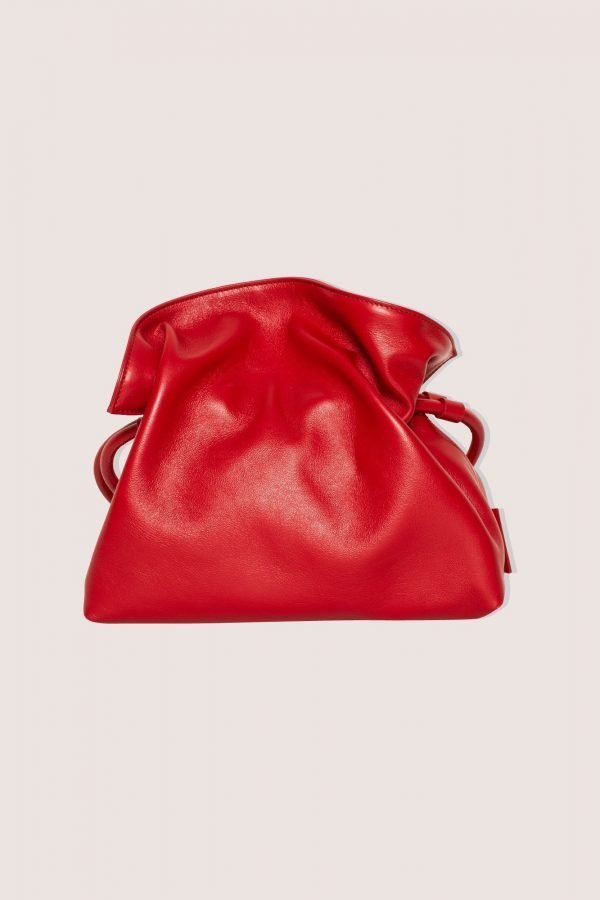 TUBICI® | Red Leather Pouch | SS21 ROMA XL | www.tubicistore.com