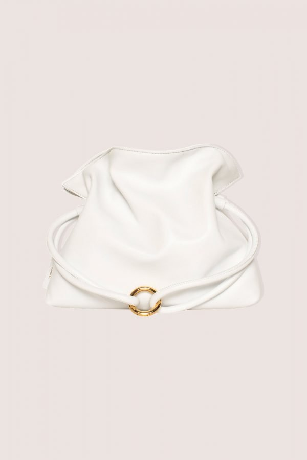 TUBICI® | White Leather Pouch | SS21 ROMA XL | www.tubicistore.com