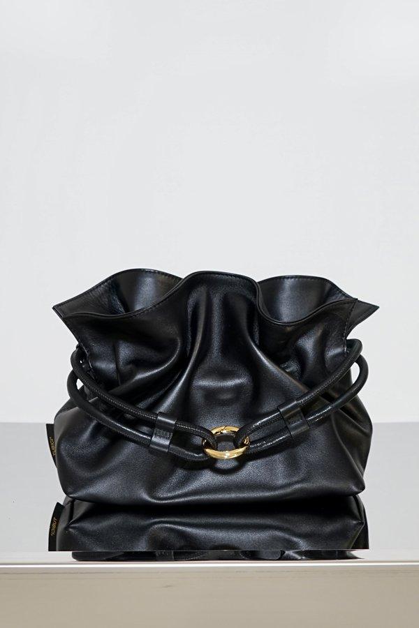TUBICI®   Black Leather Pouch   SS21 ROMA XL   www.tubicistore.com