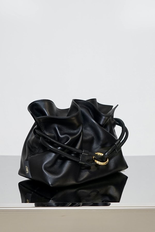 TUBICI® | Black Leather Pouch | SS21 ROMA XL | www.tubicistore.com