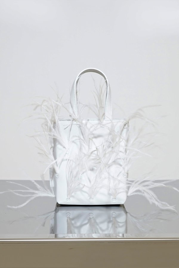 TUBICI® | White Leather & Feather | SS21 NEW YORK | www.tubicistore.com