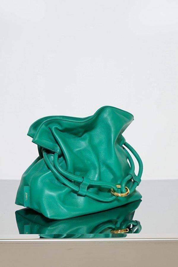 TUBICI® | Emerald Leather Pouch | SS21 ROMA XL | www.tubicistore.com