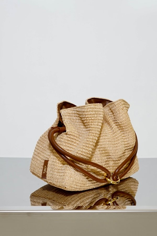 TUBICI® | Sand Rafia Pouch | SS21 ROMA XL | www.tubicistore.com